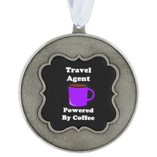 """コーヒーによって動力を与えられる""""旅行代理店"""" オーナメント"""