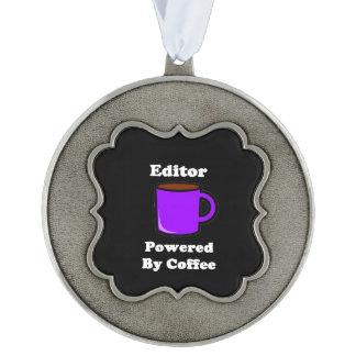 """コーヒーによって動力を与えられる""""編集者"""" オーナメント"""
