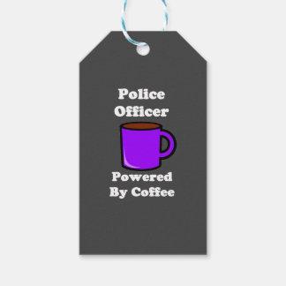 """コーヒーによって動力を与えられる""""警官"""" ギフトタグ"""