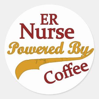 コーヒーによって動力を与えられるERのナース ラウンドシール