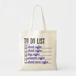 コーヒーにリストの予算の戦闘状況表示板 トートバッグ