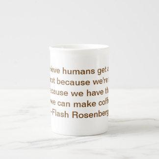コーヒーのための2本の親指 ボーンチャイナカップ