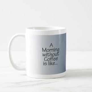 コーヒーのない青い朝の星 コーヒーマグカップ