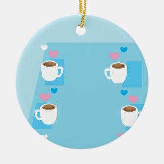コーヒーのコーヒークラブグループの収集 セラミックオーナメント