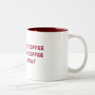 コーヒーの3つのステップ ツートーンマグカップ