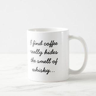 コーヒーはウィスキーの臭いを隠します コーヒーマグカップ