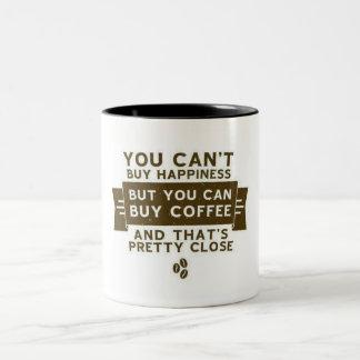 コーヒーはマグを引用します ツートーンマグカップ