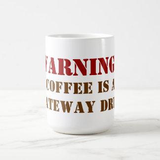 コーヒーは出入口の薬物のクラシックなマグです コーヒーマグカップ