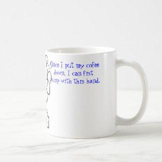 コーヒーは握りこぶしポンプを禁止します コーヒーマグカップ