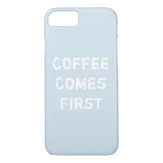 コーヒーは最初に来ます iPhone 8/7ケース