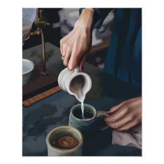 コーヒーは注ぎます フォトプリント