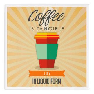 コーヒーは液体の型枠のTangableの喜びです アクリルウォールアート