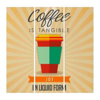 コーヒーは液体の型枠のTangableの喜びです トリプティカ