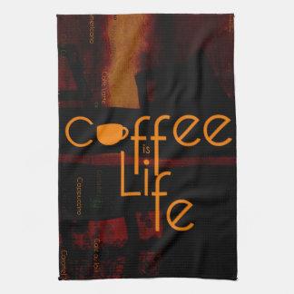 コーヒーは生命です キッチンタオル