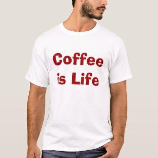 コーヒーは生命です Tシャツ