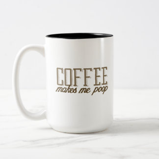 コーヒーは私にウンチをします ツートーンマグカップ