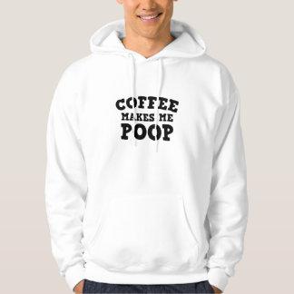 コーヒーは私にウンチをします パーカ