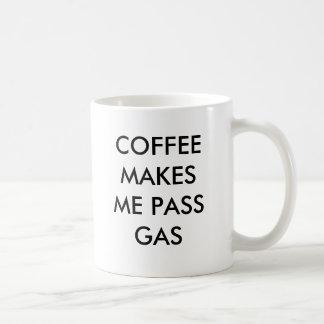 コーヒーは私にパスのガスをします コーヒーマグカップ