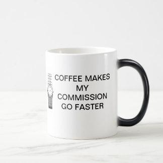 コーヒーは私の任務をより速く行かせます モーフィングマグカップ