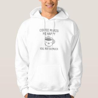 コーヒーは私を幸せにさせます パーカ