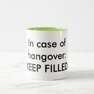 コーヒーは絶対必要です ツートーンマグカップ