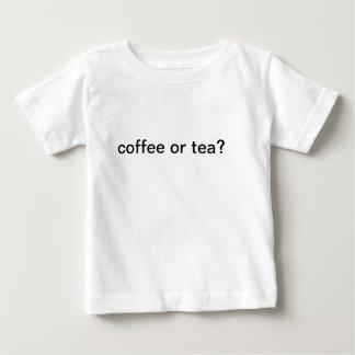 コーヒーまたは茶ワイシャツ ベビーTシャツ