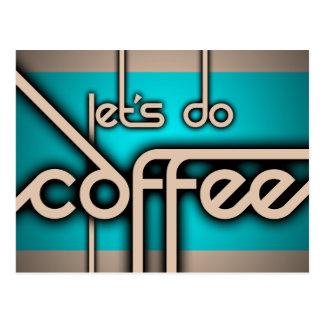 コーヒーをしよう ポストカード