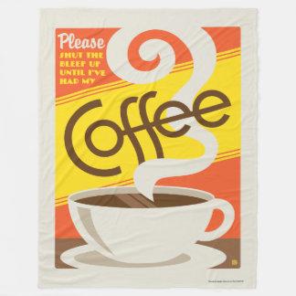 コーヒーを締めて下さい フリースブランケット