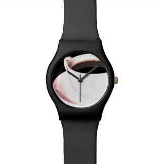 コーヒーカップのコーヒー時間腕時計 腕時計