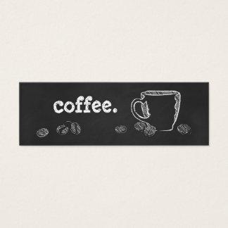 コーヒーカップのチョーク スキニー名刺