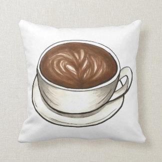 コーヒーカップのマグのラテの食糧グルメの枕 クッション
