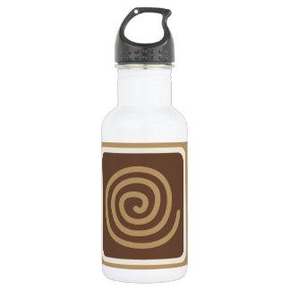 コーヒーカップのモダンなベクトル絵 ウォーターボトル
