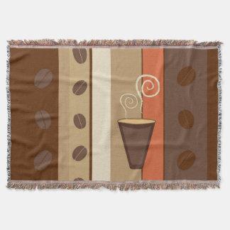 コーヒーカップのモダンなベクトル絵 スローブランケット