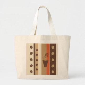 コーヒーカップのモダンなベクトル絵 ラージトートバッグ