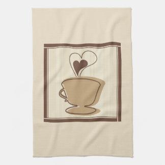 コーヒーカップの台所タオル キッチンタオル