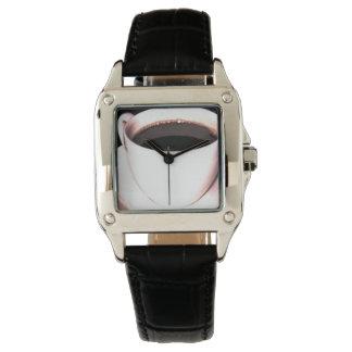 コーヒーカップの腕時計の黒の革彼の彼女の物 腕時計
