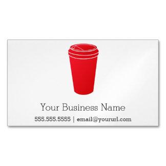 コーヒーカップの赤(ペーパートーゴ) マグネット名刺