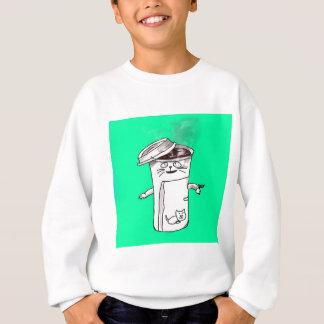 コーヒーカップ猫 スウェットシャツ