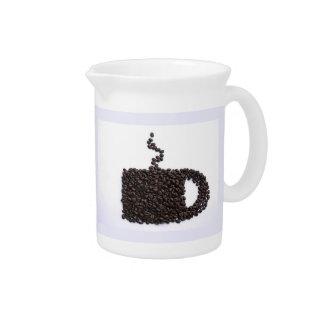 コーヒーカップ、コーヒー豆 ピッチャー
