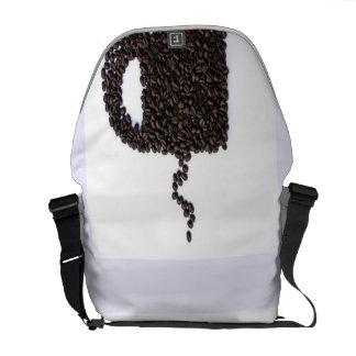 コーヒーカップ、コーヒー豆 メッセンジャーバッグ