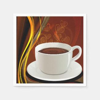 コーヒーカフェの芸術 スタンダードカクテルナプキン