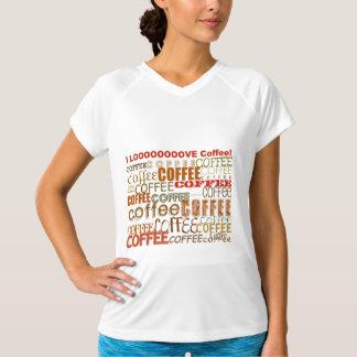 コーヒーコーヒーコーヒー多数の単語のデザイン Tシャツ