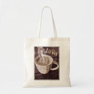 コーヒージャワのヴィンテージの芸術 トートバッグ