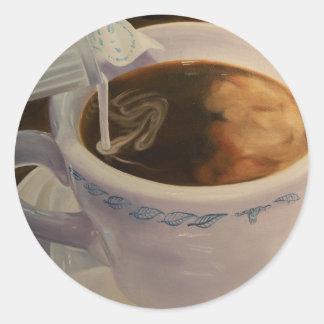 コーヒーステッカー ラウンドシール
