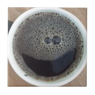 コーヒースマイリーフェイスの時間 タイル