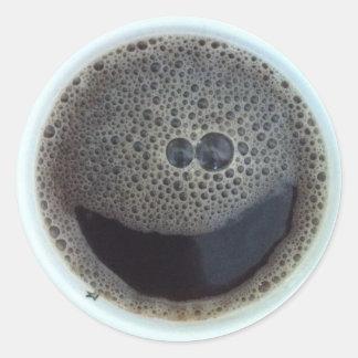 コーヒースマイリーフェイスの時間 ラウンドシール
