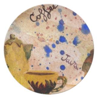 コーヒーセットのプレート- CricketDianeのコーヒー民芸 プレート