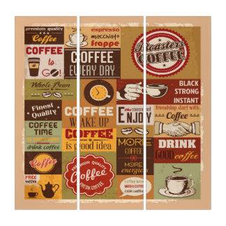 コーヒータイポグラフィ トリプティカ