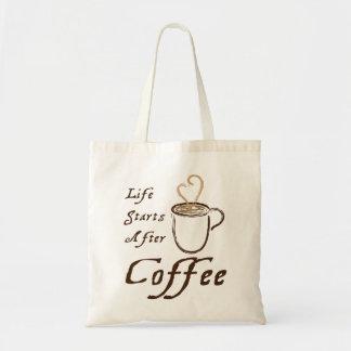 コーヒートートの後の生命開始 トートバッグ
