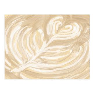 コーヒーハートの芸術 ポストカード